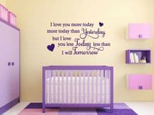 "Homely Wall Quote ""I love you more..."" Love Family Sticker Decal Decor Transfer"